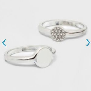 A New Day Stacking Silver Rings Cubic Zirconia 8